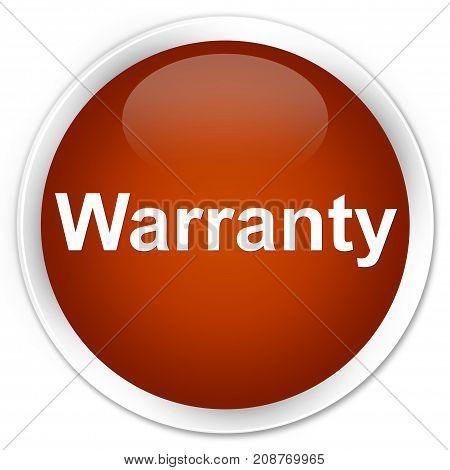 Warranty Premium Brown Round Button