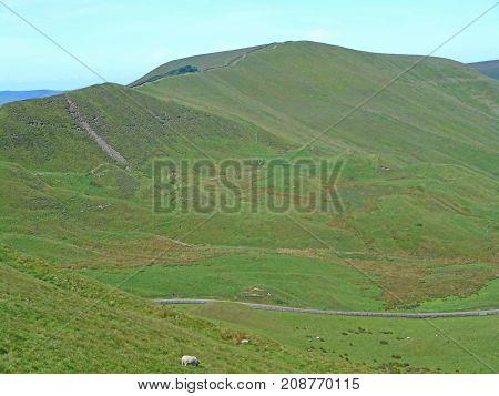 Mam Tor hill in the Peak District