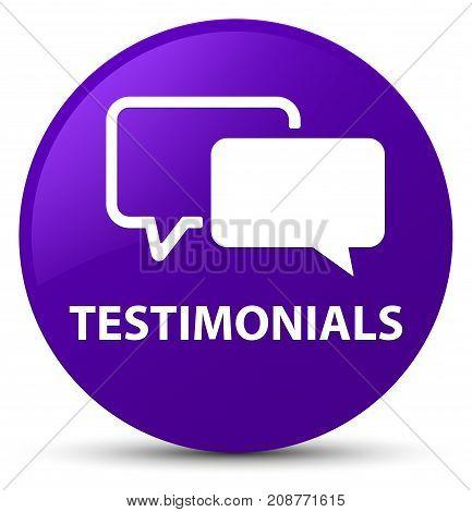 Testimonials Purple Round Button