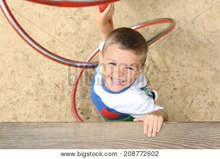 Cute little boy on playground