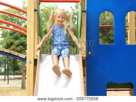 Cute little girl on playground