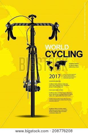 World Cycling Poster Template Design Vector Illustration