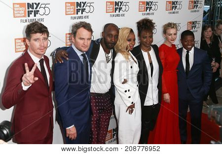 "The cast attends the ""Mudbound"" premiere at Alice Tully Hall at Lincoln Center during the 55th New York Film Festival on October 12, 2017 in New York City."