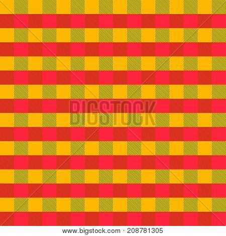 Yellow, green, red Tartan plaid seamless abstract checkered pattern background for Halloween, Thanksgiving day, Christmas , Wedding, Birthday design cards Flat style vector illustration.