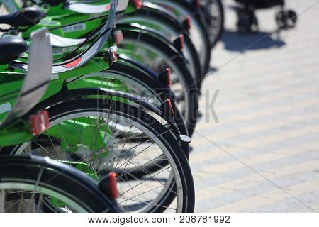 Bicycle parking rental for tourists