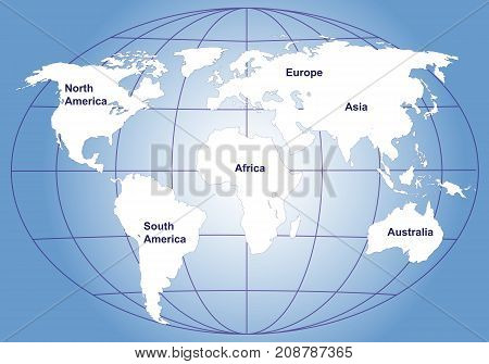 the blue vector background with world map image