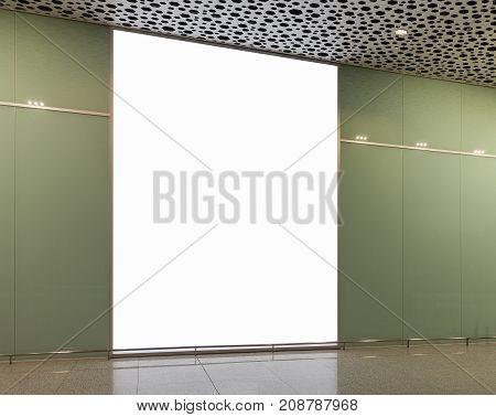 Blank Billboard For Advertising Poster Or Blank Billboard Banner