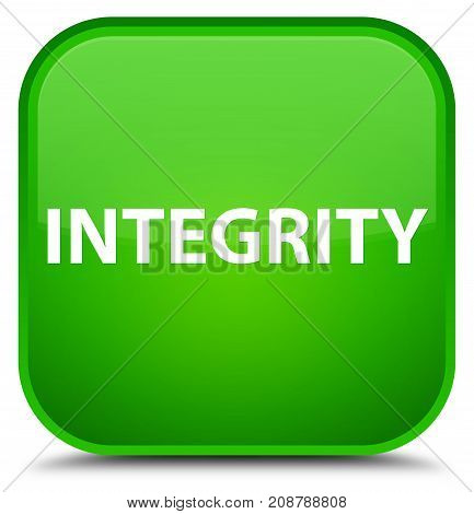 Integrity Special Green Square Button
