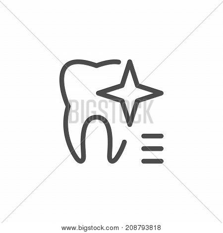 Teeth whitening icon isolated on white. Vector illustration