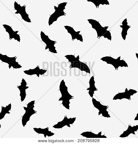 Seamless Pattern With Bats