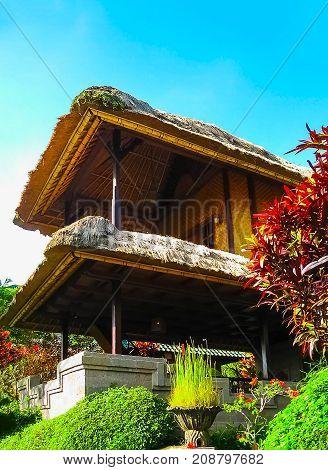 Bali, Indonesia - April 11, 2012: View Of Traditional House At Tanah Merah Resort