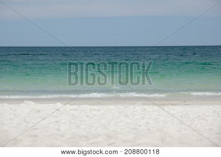 Empty Sea And Beach Background With Copy Space ,samed Island ,rayong, Thailand