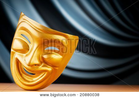 Masks with the theater concept poster