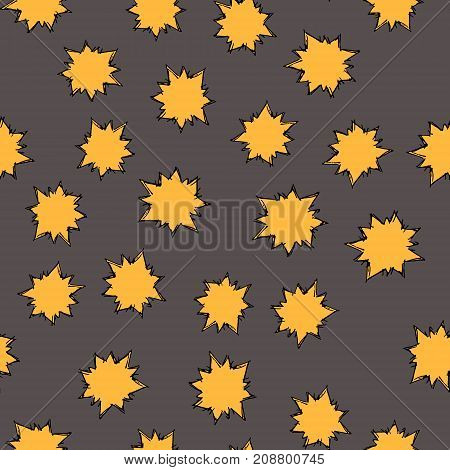 Seamless Pattern With Hand Drawn Colorful Stars