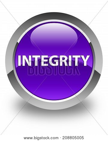 Integrity Glossy Purple Round Button