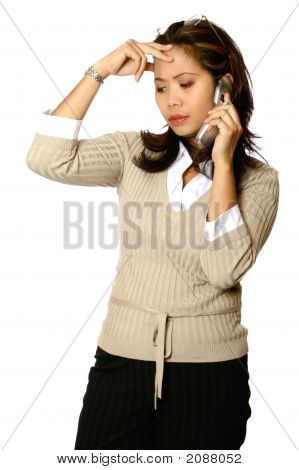 Asian Businesswoman Stress