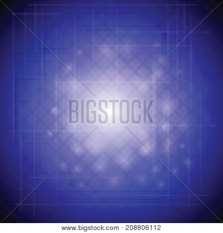 vibrant blue blurred template background with lights