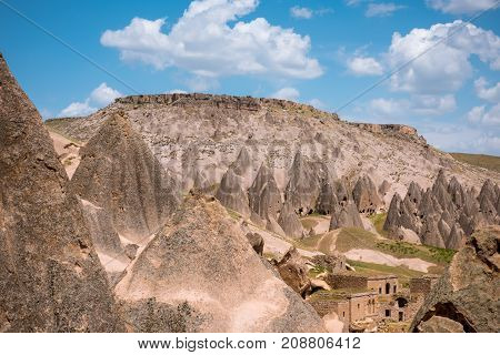 Selime Monastery in Cappadocia, Turkey. Selime is town at the end of Ihlara Valley. Selime Monastery is one of the largest religious buildings in Cappadocia.
