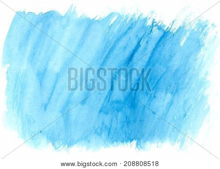 Blue Watercolor Brush Strokes As Background