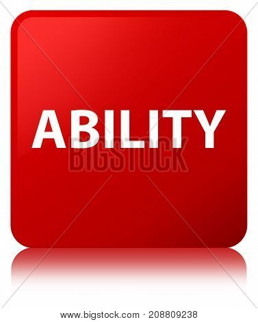 Ability Red Square Button