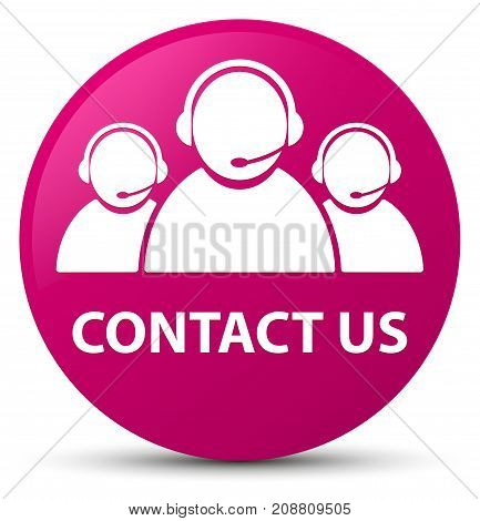 Contact Us (customer Care Team Icon) Pink Round Button