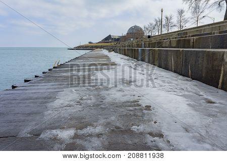 Icy Port Near Millennium Park