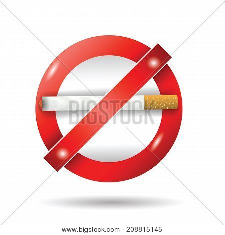 stop cigarette sign isolated on white background