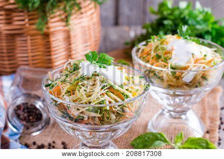 Healthy homemade salad. Concept of veggies diet