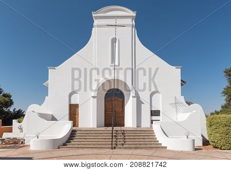 STAMPRIET NAMIBIA - JULY 5 2017: The Dutch Reformed Church in Stampriet a small town in the Hardap Region in Namibia
