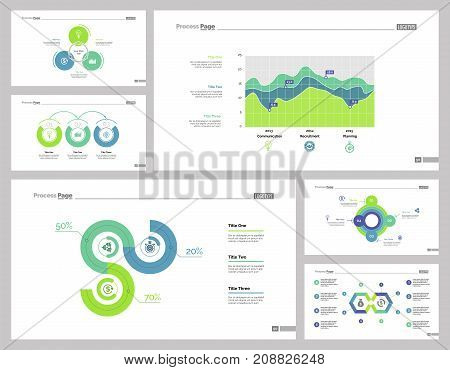 Company development set can be used for layout, web design, annual report. Management and expertise concept with area, process and line charts, steps and options diagrams