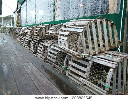 Lobster Traps at the Camden Maine Harbor 2009