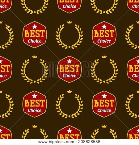 Badges shop product sale best price stickers seamless pattern background buy commerce advertising tag symbol discount promotion vector illustration. Paper store hot button mark special best banner.