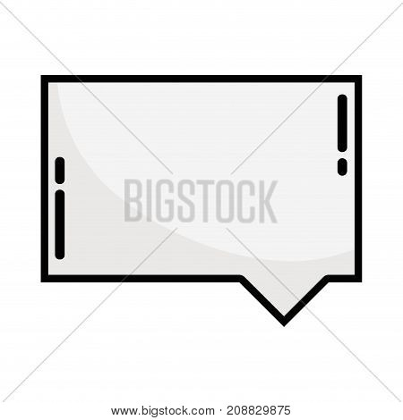 line chat bubble notes text message vector illustration
