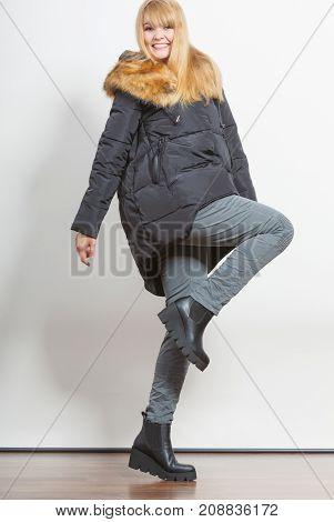 Fashion Girl In Jacket.