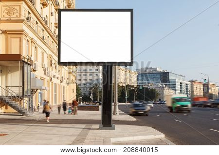 Blank Vertical Street Billboard
