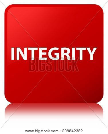 Integrity Red Square Button