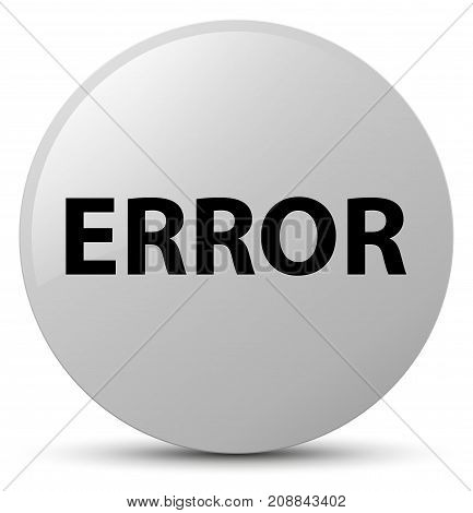 Error White Round Button