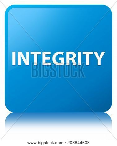 Integrity Cyan Blue Square Button