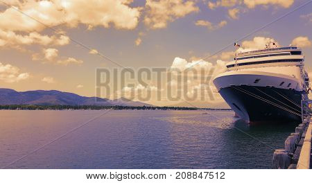 A Cruiser Ship docked in Cairns Queensland Australia