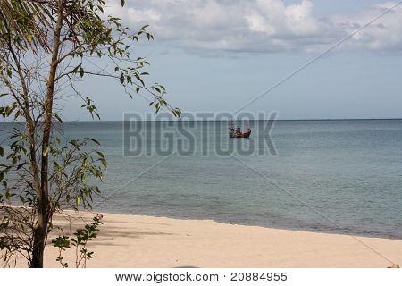 fishing boat at the shore