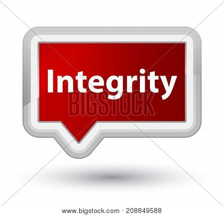 Integrity Prime Red Banner Button