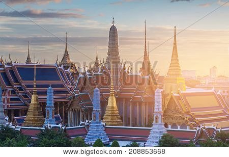 Golden temple Thailand Grand palace Bangkok Landmark