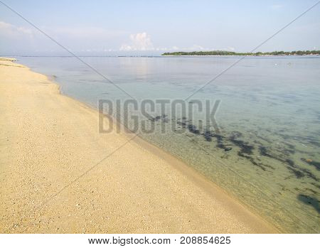 beach scenery of Gili Air wich is part of the Gili Islands at Indonesia