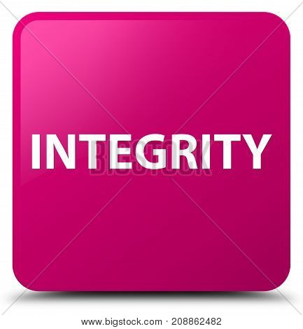 Integrity Pink Square Button