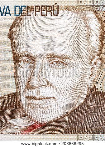 Raul Porras Barrenechea portrait from Peruvian money