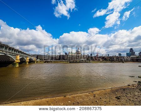River Thames In London, Hdr