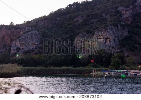 Kaunian Rock Tombs From Dalyan, Ortaca