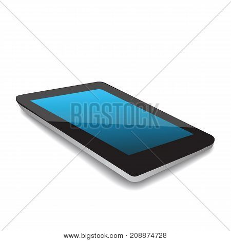 Tablet Computer Icon Isolated on White Background