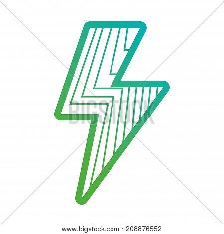 line energy hazard power symbol vector illustration