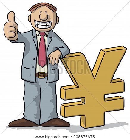 Man With Yen Sign